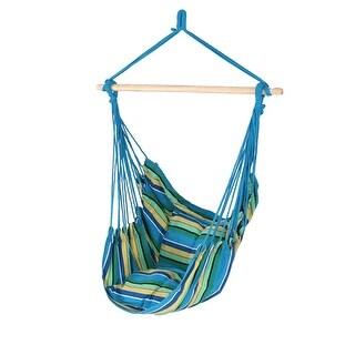Sunnydaze Indoor-Outdoor Hammock Chair Seat Swing and 2 Cushions - Ocean Breeze - Hammock Swing ONLY