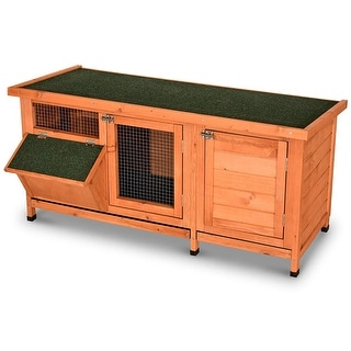Lovupet Wooden Outdoor Small Animal Cage/Hutch with Feeding Trough