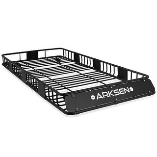 "ARKSEN 84""x 39""x 6"" Universal Roof Rack Cargo Luggage Carrier, Black - standard"