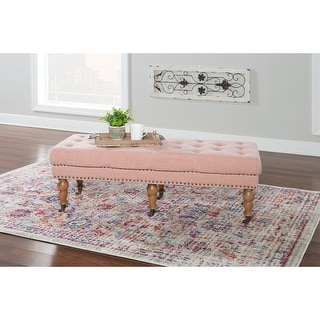 Copper Grove Pereiaslav 50-inch Tufted Pink Bench