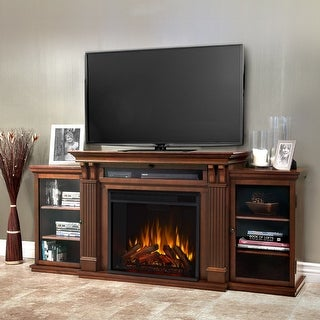 Calie Media Electric Fireplace in Dark Espresso - 67L x 18W x 30.5H