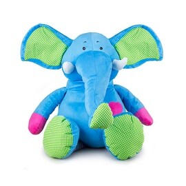 Beverly Hills Teddy Bear Company Bright Striped Elephant