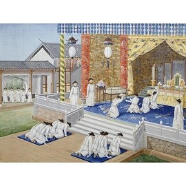 Scenes From Imperial Court Life. 19Th Century by Chinese School Exteriors Art Print