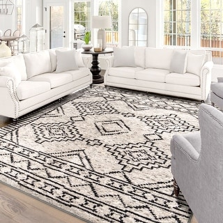 """My Texas House by Orian South by Silver Area Rug (5'3"""" x 7'6"""") - 5'3"""" x 7'6"""""""