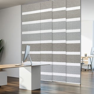 "GoDear Design Natural Woven Adjustable Sliding Panel, 45.8""- 86"" W x 96"" L"