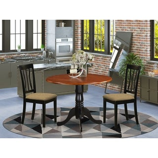 DLAN3-BCH Dining set - kitchen table with 2 Wood Chairs - Cherry