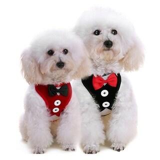 Soft Mesh Bowtie Gentleman Suit Tuxedo Dog Harness Vest