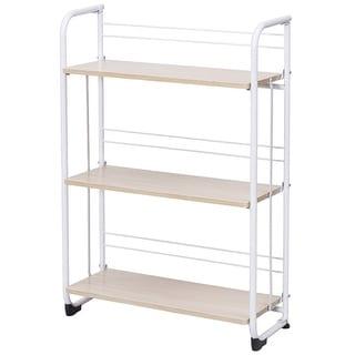 Gymax Folding 3 Tier Shelves Organization Storage Utility Shelving Unit Standing Rack - as pic