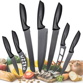 Stainless Steel Multi Use Kitchen KNIFE Set (Set of 7) Quick Shipping