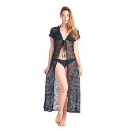 Women's Beach Dress Cover Up Open Front Long Pareo Swimwear Pool Summer