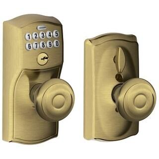 Schlage FE595-CAM-GEO Camelot Keypad Entry with Flex-Lock Door Knob