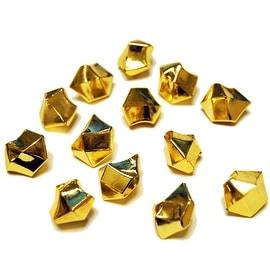 CYS® Acrylic Ice Rock Cubes 1 Lb Bag, Vase Filler or Table Decorating Idea (Gold)