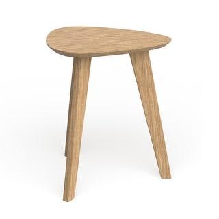 Carson Carrington Sabro Mid-century Triangular Wood End Table