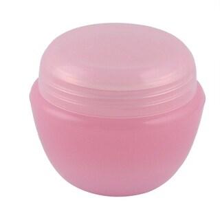 Travel Plastic Cream Container Cosmetic Storage Bottle Organizer Pink 50ml
