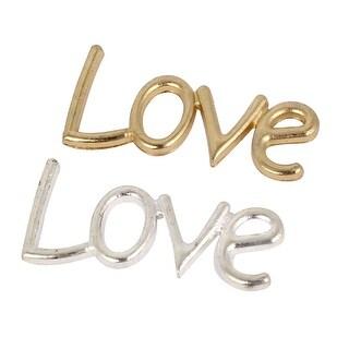 Unique Bargains Alloy LOVE Words Letters Wedding Photo Wall Decals Door Bag Decor Art Sticker 2PCS