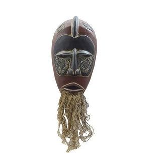 Handmade Jute-beard Tribal Mask (Ghana)