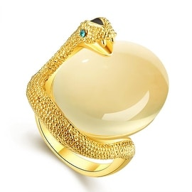 Gold Plated Snake Egg Inspired Ring