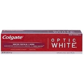 Colgate Optic White Anticavity Fluoride Toothpaste Sparkling Mint, 5 oz
