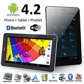 Indigi® 7.0inch Dual-Core Dual-Sim Android 4.2 SmartPhone and Tablet + WiFi + Bluetooth Sync + (Front&Rear) Cameras