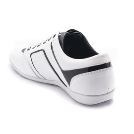 Versace Collection Leather Low Top Sneakers White