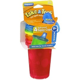 The First Years Take & Toss Spill-Proof Cups 10-Ounce, Assorted Colors 4 ea