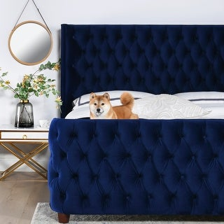 Silver Orchid Luts Luxury Button-tufted Platform Bed