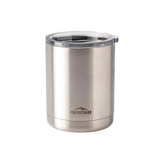 Monoprice Lowball Tumbler - 10 fl. oz. Stainless Steel, BPA-free, Sweatproof, 2x Wall Vacuum Insulated - Pure Outdoor Collection