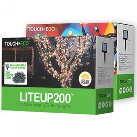 LITEUP200 Solar String Lights 200 count for Holiday or Party Outdoor lights