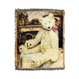 "Teddy Bear Tapestry Throw 46"""