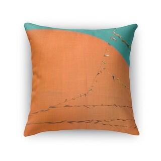 Kavka Designs orange/ blue grand orange accent pillow with insert