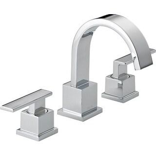 Delta 3553LF Vero Widespread Bathroom Faucet with Pop-Up Drain