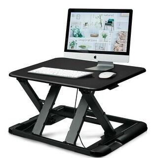 Gymax Adjustable Height Sit/Stand Desk Computer Lift Riser Laptop Work