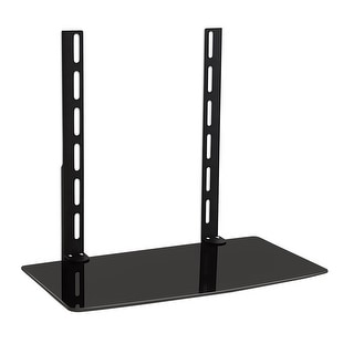 Mount-It! LCD, LED, Plasma TV Wall Mount Bracket for Cable Box, DVD Player, Stereo Components Shelf (1 Shelf) - Black