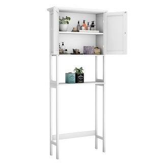 Over The Toilet Bathroom Storage Space Saver with Shelf Collect