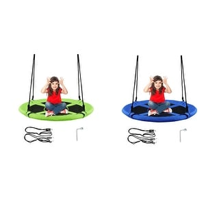 Goplus 40'' Flying Saucer Tree Swing Indoor Outdoor Play Set Kids