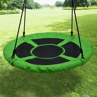 "Children's Flying Saucer Swing Playground Platform Tree Swing Nylon Rope Detachable 40"" Diameter 220lb Weight Capacity - SIZE"