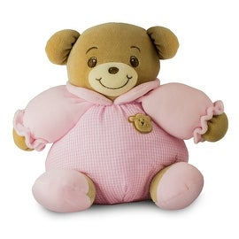 Baby Bow Rattle Plush Teddy Bear in Pink by Russ