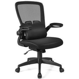 Costway Mesh Office Chair Adjustable Height&Lumbar Support Flip up