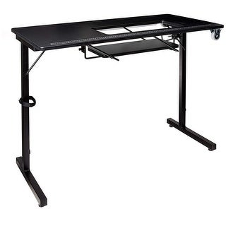 Offex Foldable Sewing Craft Hobby Utility Table - Black