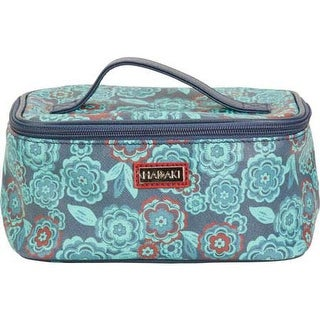 Hadaki by Kalencom Women's Train Cosmetic Case Floral Vegan Leather - US Women's One Size (Size None)