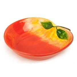 Tumbleweed Pottery Ceramic Peach Cobbler Dish