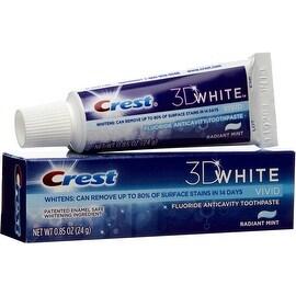 Crest 3D White Vivid Fluoride Anticavity Toothpaste, Radiant Mint 0.85 oz