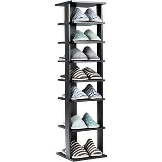 Gymax 7-Tier Shoe Rack Practical Free Standing Shelves Storage Shelves