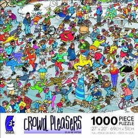 Crowd Pleasers On Thin Ice Puzzle 1000 Pieces Jigsaw Puzzle by Jan Van Haasteren
