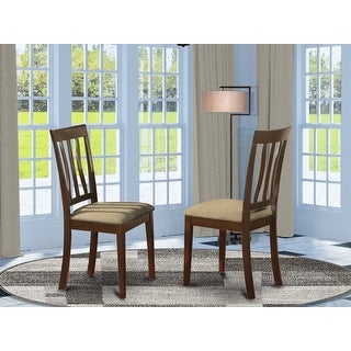 Cappuccino Antique Dining Room Chair For Kitchen in Cappuccino Finish (Set of 2)