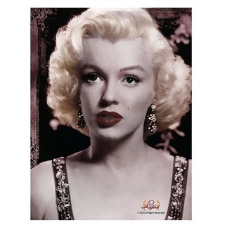 "Marilyn Monroe Portrait 45""x60"" Fleece Throw Blanket - Multi"