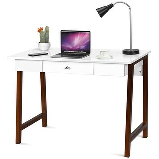 Gymax Computer Desk Laptop PC Writing Table Makeup Vanity Table