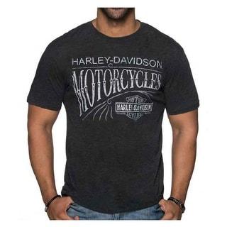 Harley-Davidson Men's Moto Vintage Short Sleeve Blend T-Shirt - Vintage Black