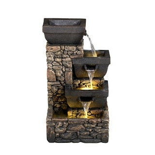 Dynasty 4-Tier Water Fountain with LED Lights