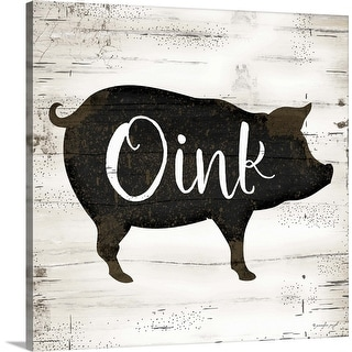 """Farmhouse Pig"" Canvas Wall Art"